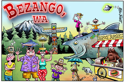 Bezango post card by Mike Tackett